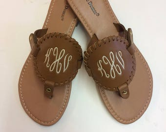 New Tan Sandals,  Personalized Sandals, Shoes,  Monogram, Summer Style, Summer Fashion, Womens Shoes