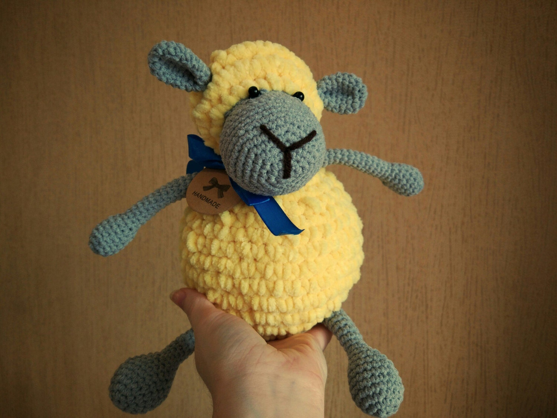 Amigurumi Sheep Doll : Crochet sheep Gray sheep Toy for kids Stuffed toy Crochet lamb