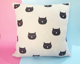 Cat pillow case / pillow case / Home decor / Suede pillow case