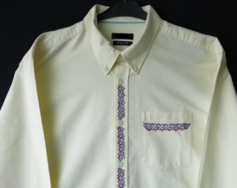 Men's hand painted shirt