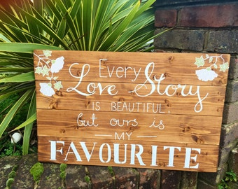 Wedding sign, wood sign hand painted.