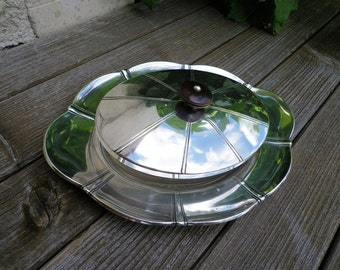 Old butter dish silver Art Deco - Antique french - new Art - Silver butter dish - early twentieth-