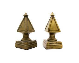 A Set of Heavy Brass Bookends by Anthropologie