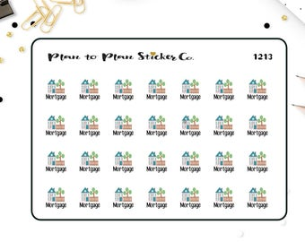 1213~~28 Mortgage Due House Payment Planner Stickers.