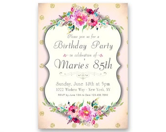 Elegant 60th Birthday Invitations Women S 60th