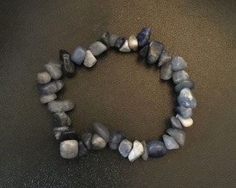Blue Aventurine Chip Bead Bracelet