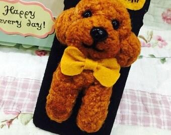 Custom made Poodle phone case.