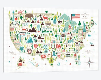 United States USA Text City Map Unique Beautiful Gallery Style - Cute us map
