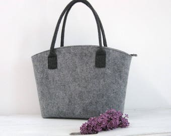 50% OFF, bag  in Grey! Felt tote bag,Elegant and Casual, Felt Bag, Tote Shoulder Bag, Shopping, Bag Handbag, Storage Bag