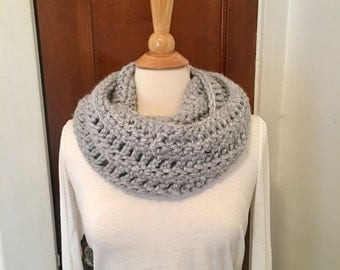 READY TO SHIP - Chunky Crochet Infinity Scarf