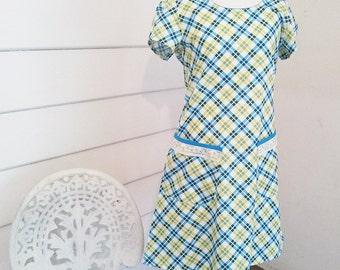 Women's Summer Dress Mod Dress Tunic Dress Cotton Cap Sleeve Dress