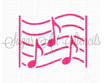 Cookie stencil musical  music note NB700127