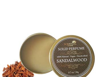 Sandalwood Solid Perfume, Organic Sandalwood Perfume Bar, Vegan Perfume, Natural Perfume, Gift Idea