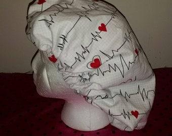 Heartbeat hair bonnet