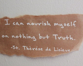 Home Decor- St. Therese Lisieux: Nourish