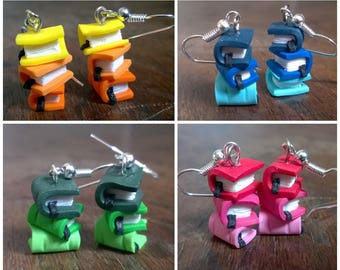 Earrings Fimo - books