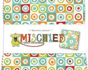 "SALE Mischief by Benartex - (42) 5"" x 5"" Charm Pack"
