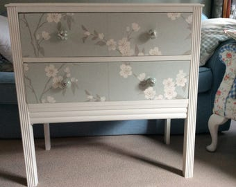 A Vintage Hand Painted/Decoupaged Chest of Drawers