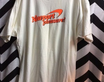 SOLD OUT! Do NOt Purchase! Vintage Tshirt Newport Pleasure! Logo Tee SOFTY Paper thin