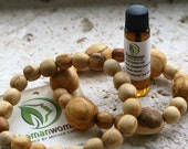 Palo Santo wood beads bracelet and Palo Santo oil: Protection bracelet-Smudging oil-Palo Santo wood-Smuding oil-Blessing oil-Energy clearing