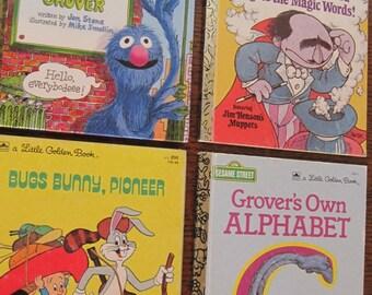 Books, Children's Books, Little Golden Books, Set of 4 Children's Books