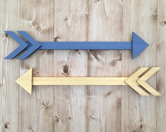One Wooden Arrow, Wall Decor, Rustic, Brave, Wood Wall Decor, Arrows, Arrow Decor, Brave, Accent Decor, Arrow, Accent Decor, Custom Colors