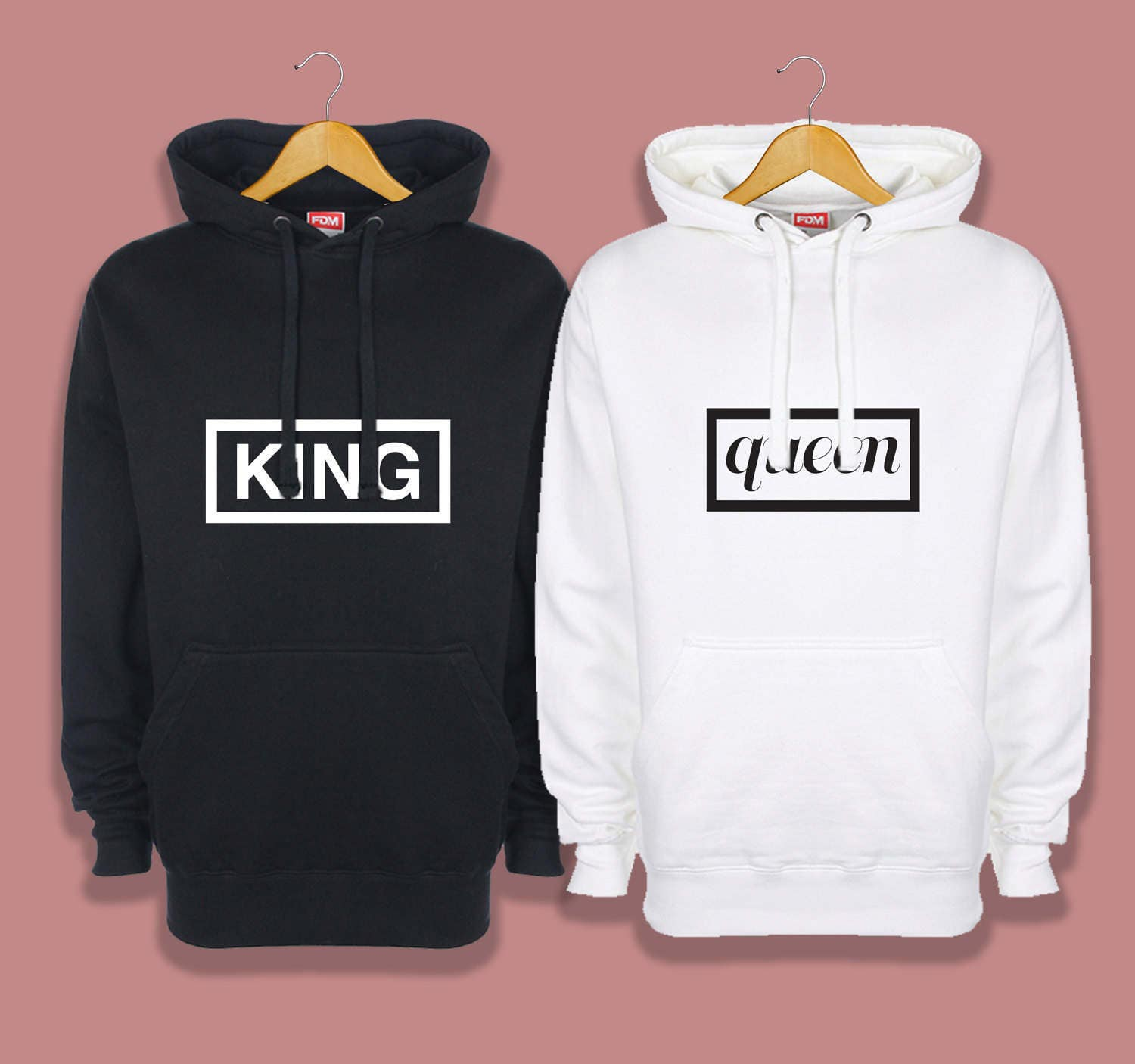 king and queen hoodies couples hoodies mr and mrs hoodies. Black Bedroom Furniture Sets. Home Design Ideas