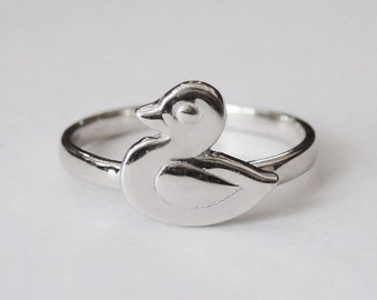 duck ring, duck jewelry, duck accesories, animal ring, animal jewelry, kids Ring, kids jewelry, silver duck ring, gift for girls, duck