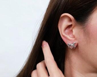 horse earrings, silver horse earrings, cow girl earrings, lucky earrings, western earrings, horse lover, animal lover, horse, birthday gifts