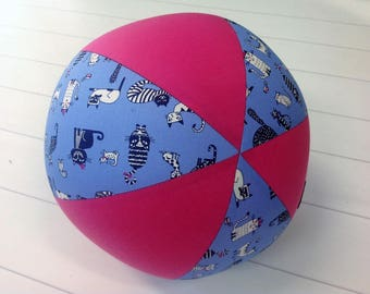 Balloon Ball Fabric, Balloon Ball Cover, Portable Ball, Travel Ball, Inflatable, Sensory, Special Needs, Cats, Pink, Kids, Dogs,Eumundi Kids