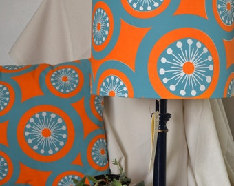 Hand Printed LampShade and Matching Cushion