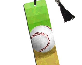 Baseball Fan Printed Bookmark With Tassel