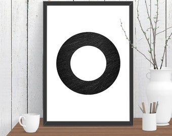 Ring Stone Scandinavian style Print, Wall Art, Room Decor, Modern, Minimalist, Poster A4 A3 A2 8x10 11x14 12x18 16x20
