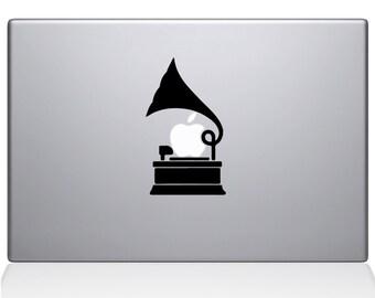 Gramophone Macbook Decal For Macbook Apple Laptop Sticker
