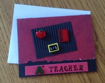 A+ Teacher Handmade Card