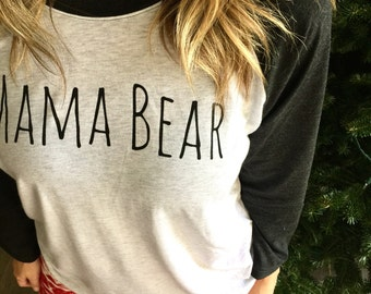 Black Mama Bear Baseball Tee Pre-Order *