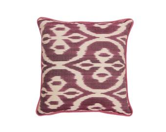 16'' x 16''  ikat pillow , hand-woven ikat modern ikat cushion cover , decorative cushion