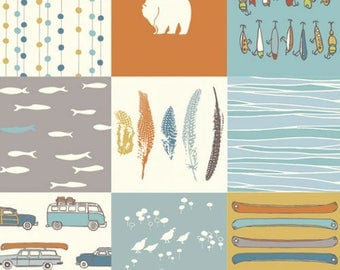 Feather River Patch - Feather River - Birch Fabrics - Organic Cotton - Poplin by the Yard