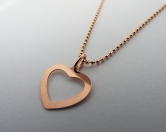 925 Silver necklace heart Rosé gold plated
