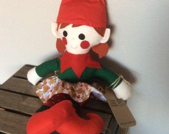 christmas elf soft toy