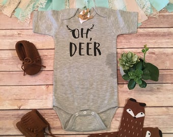 Oh Deer Baby Bodysuit Clothes Boy Country