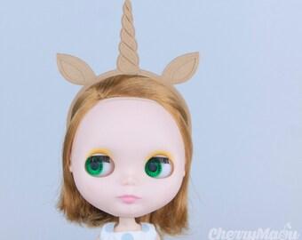 "Headband ""Unicorn"" for Lati Yellow, Lati White, Momoko, Pullip, Blythe, Dal, Yeolume, Byul, MSD, Kikipop, YoSD"