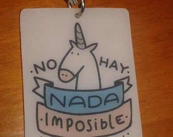 Unicorn key ring. Nothing is impossible