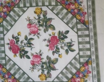 Panel  #017 Vintage Floral Panel with Free shipping