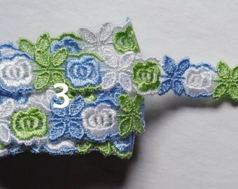 3/4 inch wide embroidered trim price for 1 yard