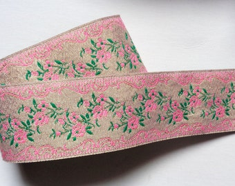 Jacquard Ribbon, 1+1/2 inch wide price for 1 yard