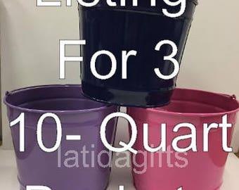 Listing for 3- 10 quart buckets