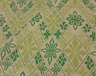 Retro Green Fabric