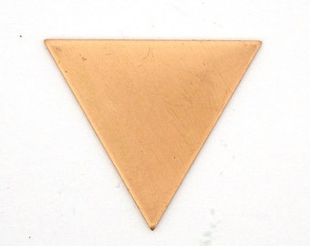 10 Solid Copper Equilateral Triangle Blanks