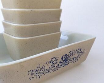 Pyrex bowl Spring Blossom, Vintage Pyrex bowl, White Pyrex bowl, Pyrex 1960, White glass bowl, Pyrex collection